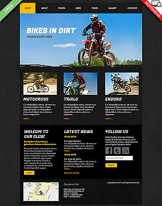 free Joomla!3 - Template Bikes in Dirt