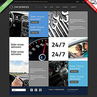 free VirtueMart theme Car Services