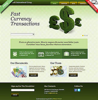 free Joomla!3 - Template Credit International Group