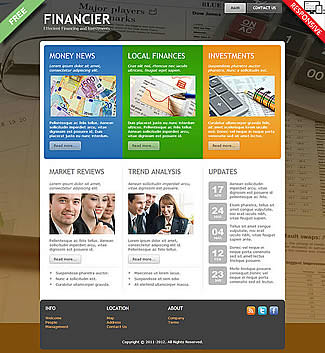 free Joomla!3 - Template Financier