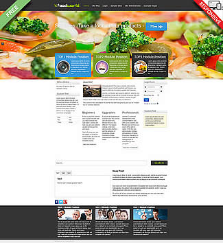 free Joomla!3 - Template FoodWorld