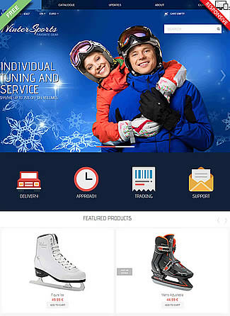 free Virtuemart theme Winter sports