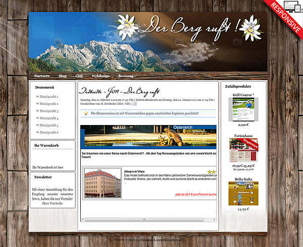Joomla!3 - Template The mountain calls