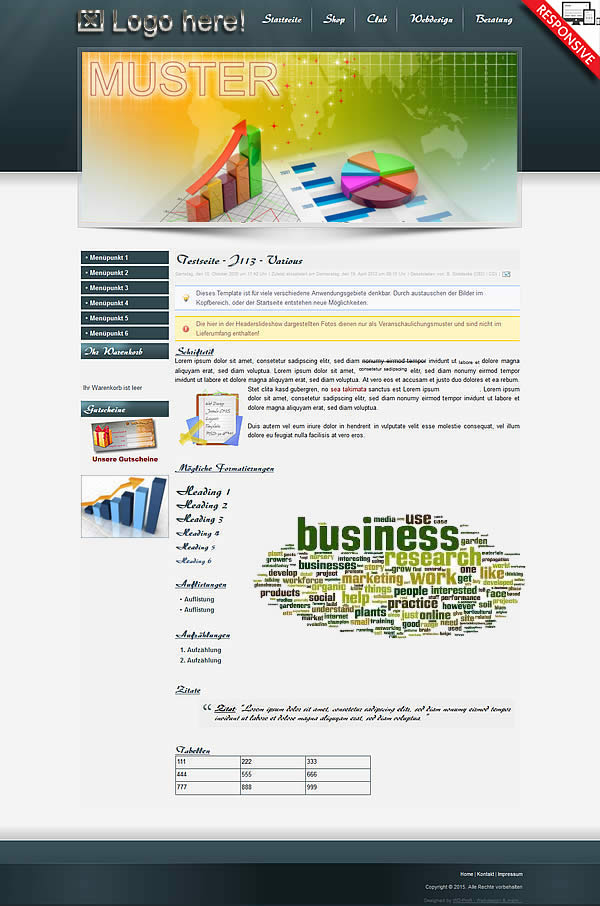 Joomla!3 - Template Various