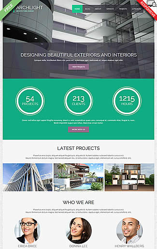 free Joomla!3 - Template ArchLight