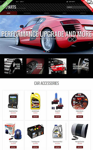 free VirtueMart Theme Car Parts