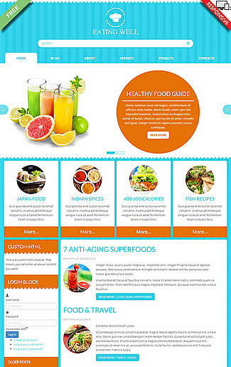 free Joomla!3 - Template Eating Well