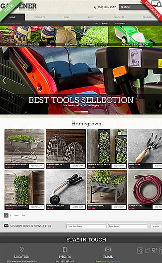 free VirtueMart Theme Gardener