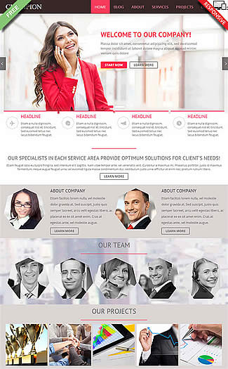 free Joomla!3 - Template HWL Business Company