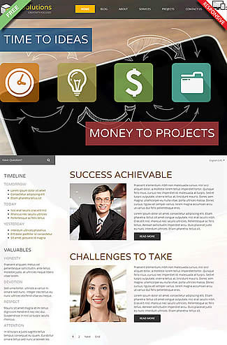 free Joomla!3 - Template IT Solutions