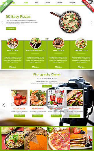 free Joomla!3 - Template Recipes