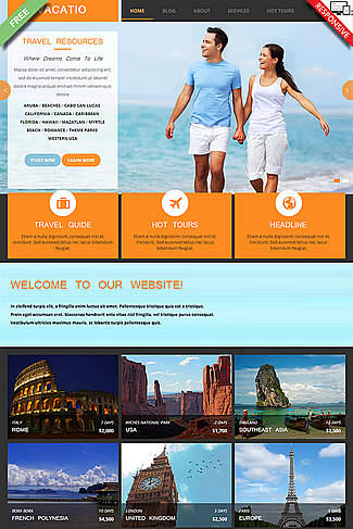 free Joomla!3 - Template Vacation