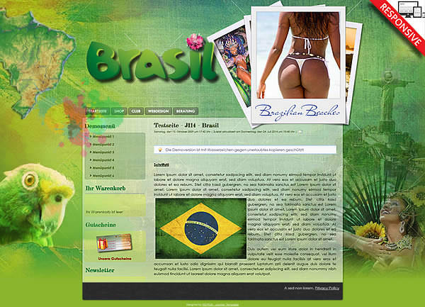 Joomla!3 - Template Brasilian Nights