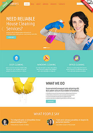 free Joomla!3 - Template eCleaners